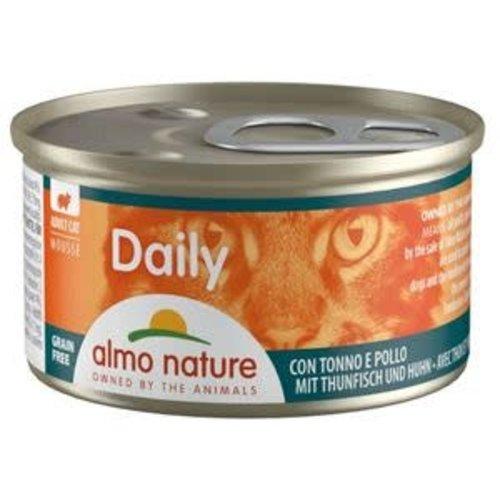 Almo Nature Almo Nature Kat Daily Menu Natvoer - Mousse met Tonijn en Kip 85g