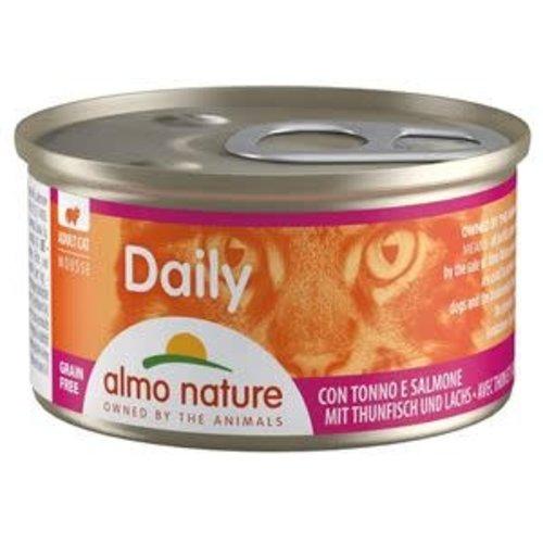 Almo Nature Almo Nature Kat Daily Menu Natvoer - Mousse met Tonijn en Zalm 85g