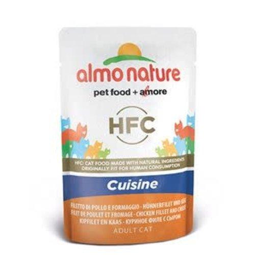 Almo Nature Almo Nature Kat HFC Natvoer - Cuisine - Kipfilet en Kaas 55g