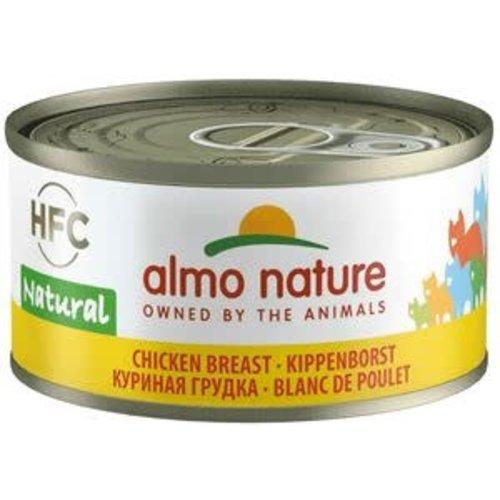 Almo Nature Almo Nature Kat HFC Natvoer  Natural  Kippenborst 70g