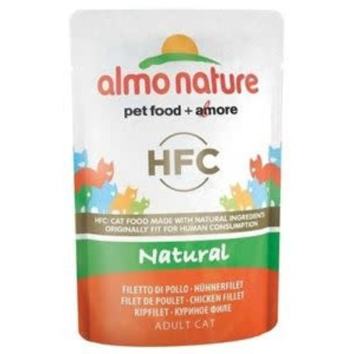 Almo Nature Almo Nature Kat HFC Natvoer - Natural - Kipfilet 55g