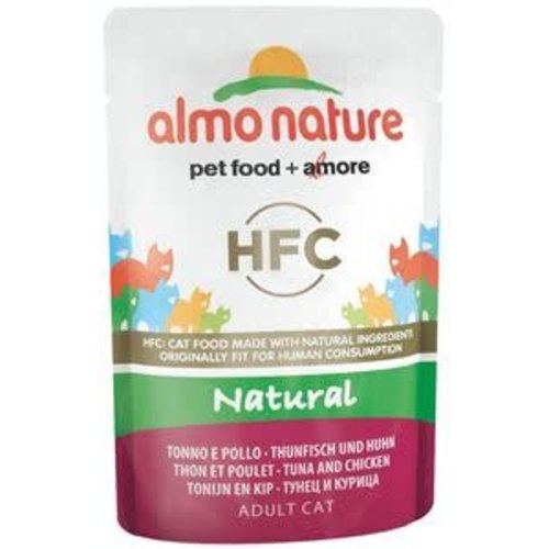 Almo Nature AN Tonijn en Kip 55 gr.