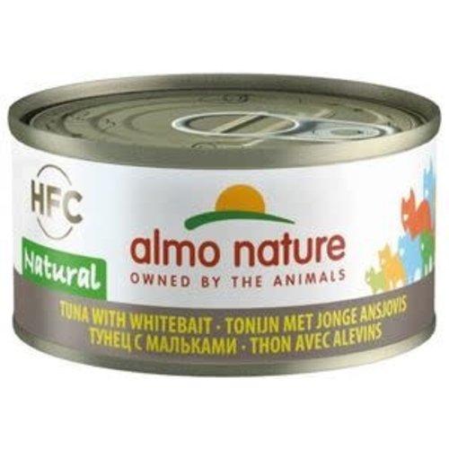 Almo Nature Almo Nature Kat HFC Natvoer  Natural  Tonijn met Ansjovis 70g