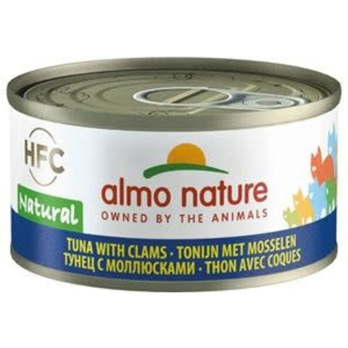 Almo Nature Almo Nature Kat HFC Natvoer  Natural  Tonijn met Mosselen 70g