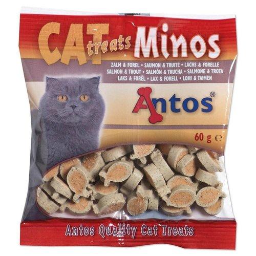Antos Cat Treats Minos Zalm&Forel 60 gr