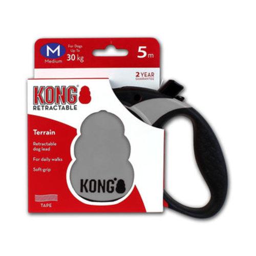 Kong Kong Retractable Leash Terrain Grey M (5m/30kg)