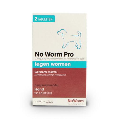 No Worm Pro kleine hond & puppy 2 tab