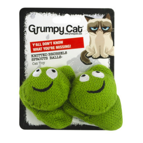 Grumpy Cat Grumpy Cat Knitted Brussels Sprouts Balls 2-pack