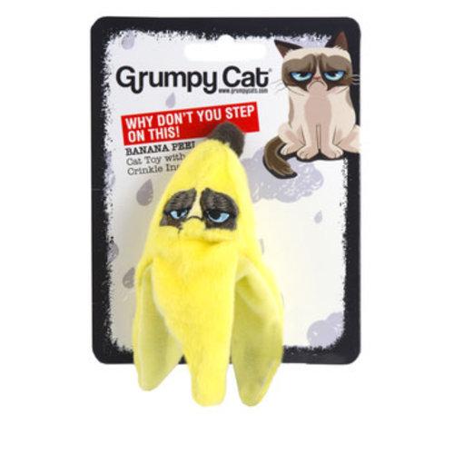 Grumpy Cat Grumpy Cat Banana Peel Catnip/Crinkle Toy