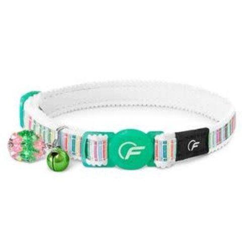 Freezack FZ Cat Collar Horizontal Green 20-31cm.