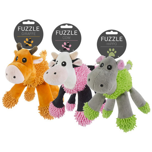 Fuzzle Fuzzle Hippo with 5 squeakers