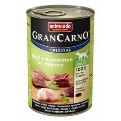 GranCarno Grancarno Rund, Konijn+Kruiden 400 gr.