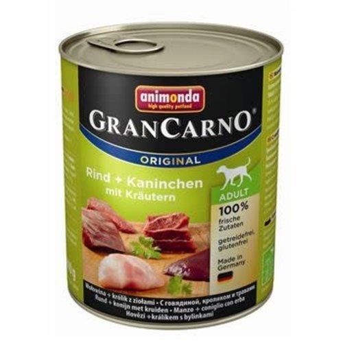 GranCarno Grancarno Rund, Konijn+Kruiden 800 gr.