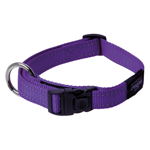 Rogz Utility Halsband Purple 34-56 cm.