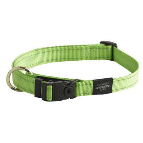 Rogz Utility Halsband Lime 34-56 cm.