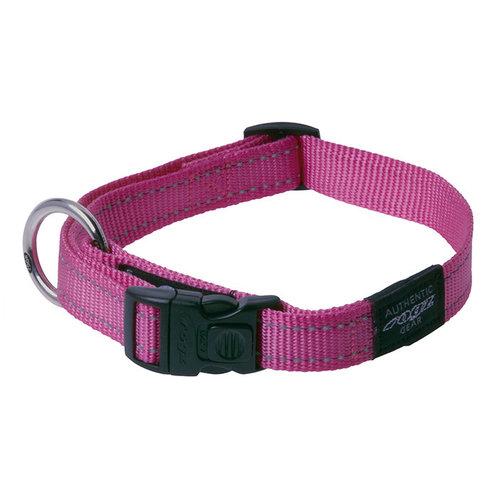 Rogz Fanbelt Halsband Pink 34-56 cm.