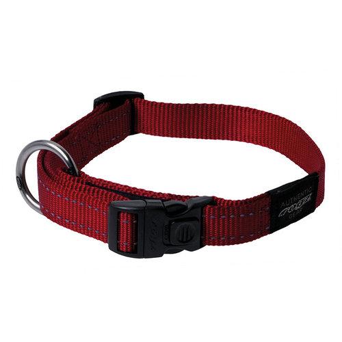 Rogz Fanbelt Halsband Red 34-56 cm.