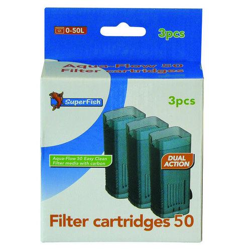SuperFish Filtercassette Aqua-flow 50 3 stuks