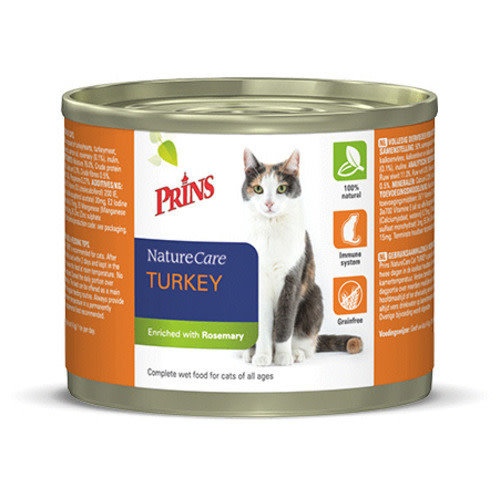 Prins NatureCare Cat 200 g Kalkoen