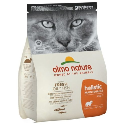 Almo Nature Almo Nature Kat Holistic Droogvoer - Maintenance - Vette Vis 400g