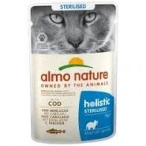 Almo Nature Almo Nature Kat Holistic Natvoer - Sterilised - Kabeljauw 70g