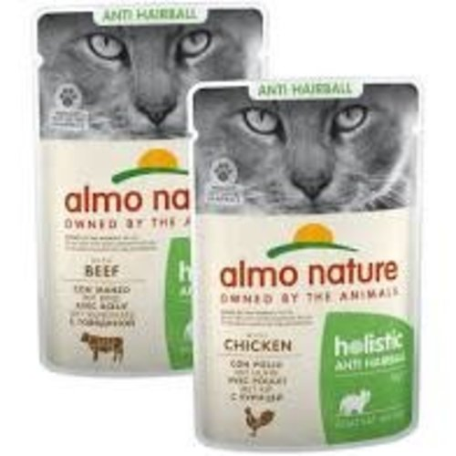 Almo Nature Almo Nature Kat Holistic Natvoer - Anti-Hairball - Rundvlees 70g