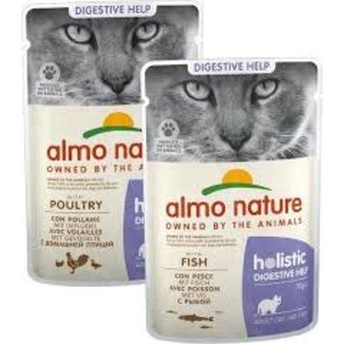 Almo Nature Almo Nature Kat Holistic Natvoer - Digestive Help - Vis 70g