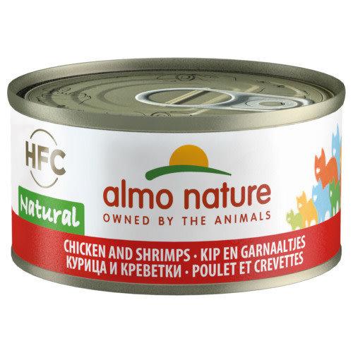 Almo Nature Almo Nature Kat HFC Natvoer - Natural - Kip en Garnaaltjes 70g