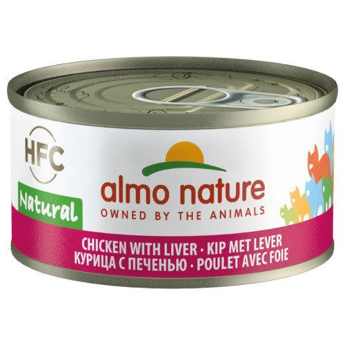 Almo Nature Almo Nature Kat HFC Natvoer - Natural - Kip en Lever 70g