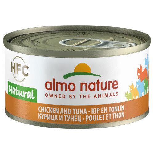 Almo Nature Almo Nature Kat HFC Natvoer - Natural - Kip en Tonijn 70g