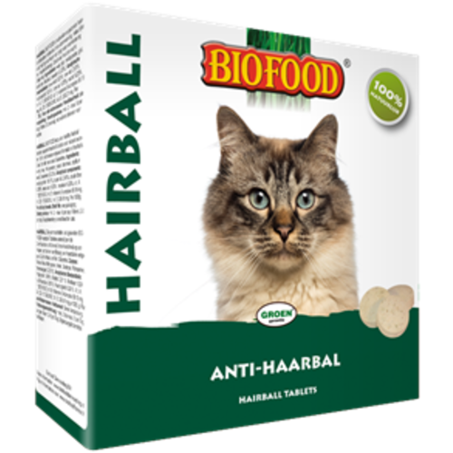 Biofood BF Hairball tabletten kattengras 100 st.