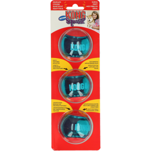 Kong Kong Squeezz Action Red Medium