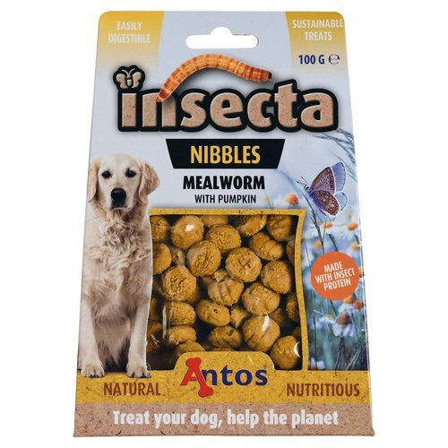 Antos Insecta Nibbles Meelworm & Pompoen 100 gr