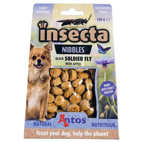 Antos Insecta Nibbles Zwarte Soldatenvlieg & Appel 100 gr