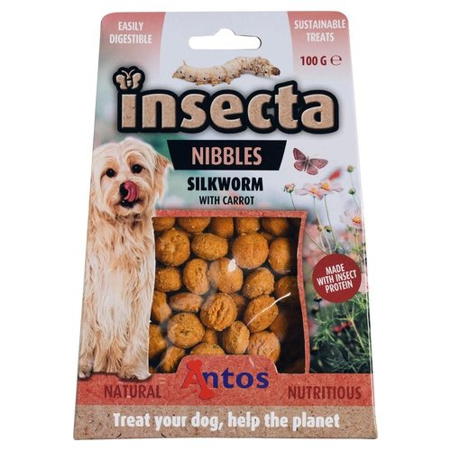 Antos Insecta Nibbles Zijderups & Wortel 100 gr