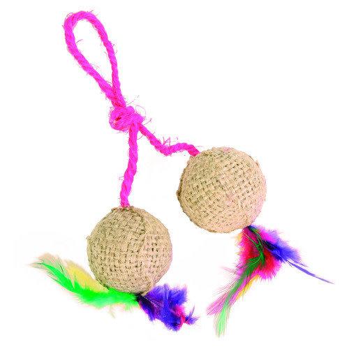 Trixie balletjes aan touw 4.5 cm 60x105x215 mm