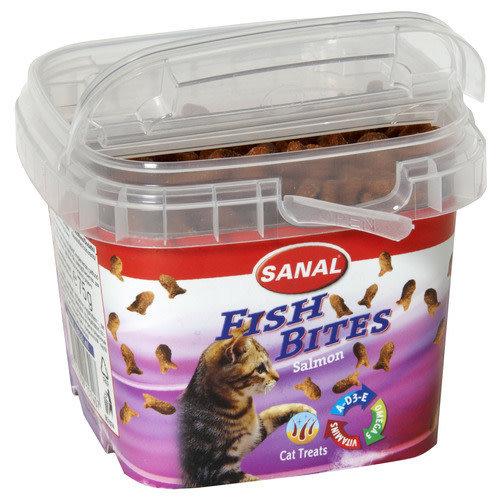 Sanal Fish Bites Cat Treats 75 g Zalm