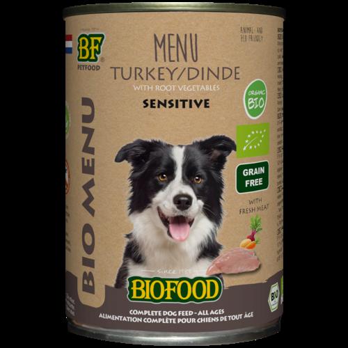 Biofood Biofood Organic Kalkoen menu 400 g blik