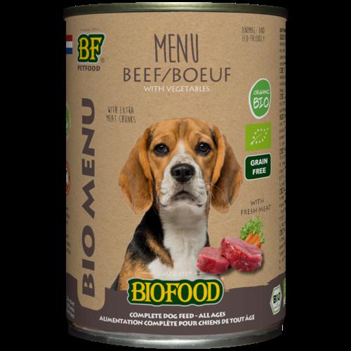 Biofood Biofood Organic Rund menu  400 g blik