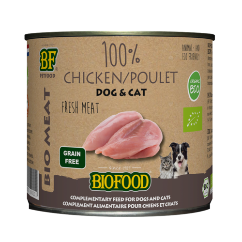 Biofood Biofood Organic 100% kippenvlees 200 g blik