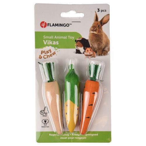 Flamingo Knaagdierspeelgoed Vikas Groen|Geel|Oranje 10x2x2 cm
