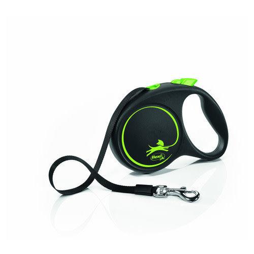 Flexi Black Design tape M Groen|Zwart 5 m