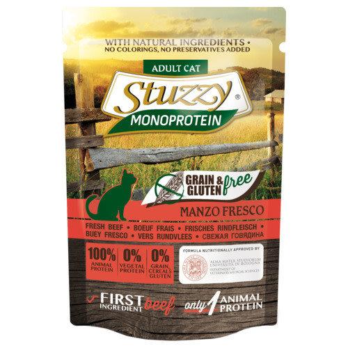 Stuzzy Cat grain & gluten free pouch 85 g Rund