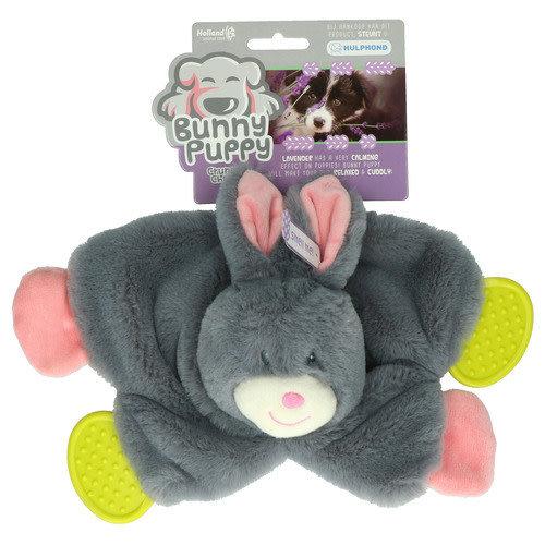 Bunny Puppy Crunchy Chew Grijs Roze 33x23x5 cm
