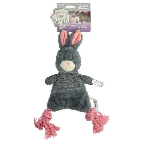 Bunny Puppy Crunchy Rope Grijs Roze 41x13x5 cm