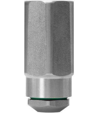"""RVS nozzle houder 3/8""""bi x 1/4""""bi voor schuiminjector"""