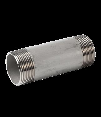"Holz RVS pijpnippel 1/2"" x 70mm voor PE806"