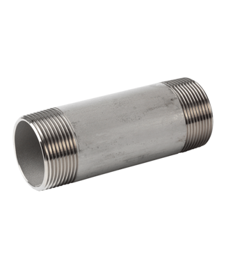 "Holz RVS pijpnippel 1/2"" x 100mm voor PE806"