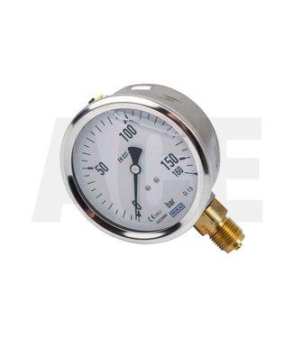 Wanner RVS manometer 0-160bar voor G25 pomp