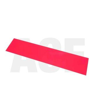 Acrylaatplaat rood 550x120x3mm voor ACE velgintensief